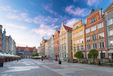 Architecture of the old town in Gdansk at sunrise, Poland. - 204345726