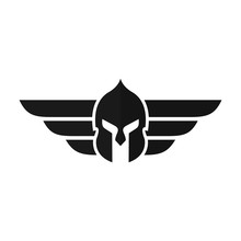 Helmet Of Knight Logo Armor Icon Warrior Symbol  Eps 08 Sticker