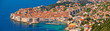 Leinwanddruck Bild Historic town of Dubrovnik panoramic view