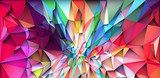 Colorful low poly triangular shapes geometric background with vibrant color tone. - 204368150