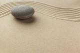 zen garden meditation stone background - 204375383