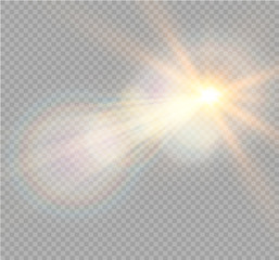 Vector transparent sunlight special lens flare light effect. Christmas abstract pattern. Sparkling magic dust particles