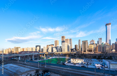 Plexiglas Peking panoramic city skyline
