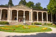 Leinwanddruck Bild - Baden-Baden, Germany. The Trinkhalle (Pump House), a building in the Kurhaus spa complex, with a 90-metre arcade colonnade lined with frescos and benches