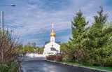 Moscow. May 5, 2018. A temple in honor of the Kazan Icon of the Mother of God at the intersection of Meshchersky Avenue and Voskresenskaya Street.
