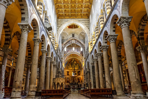 Foto Murales Pisa Tower and Cathedral Historical Buildings in Italy