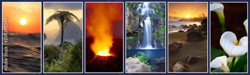 Fotobehang Landschappen Paysages de La Réunion.