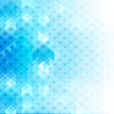 Abstract blue geometric shapes, vector background. - 204407334