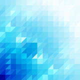 Abstract blue triangle shapes, vector background. - 204408581