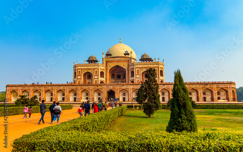 New Delhi, Delhi / India - 04/25/2018: Humayun Tomb.