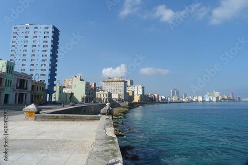 Aluminium Havana Panoramaansicht Malecón in Havanna.