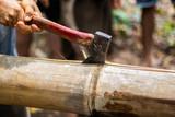 axe in bamboo