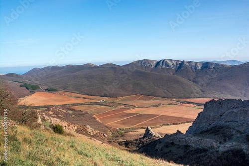 Plexiglas Blauw Mountain landscape