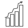 line graphic statistics bar growing diagram