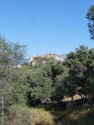 Aluminium Khaki Vue sur l'Acropole