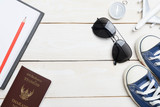 travel trip accessories  items travel concept - 204449951