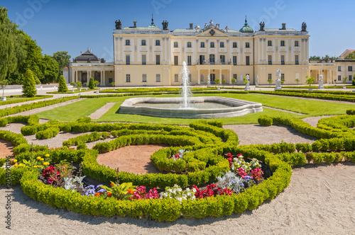 Fototapety, obrazy : Gardens of the palace Branicki, the historic complex is a popular place for locals, Bialystok, Poland.