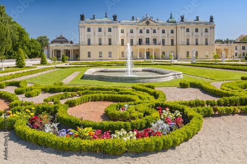 Zdjęcia na płótnie, fototapety na wymiar, obrazy na ścianę : Gardens of the palace Branicki, the historic complex is a popular place for locals, Bialystok, Poland.