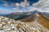 View from Kasprowy Wierch in High Tatra Mountains, Poland.