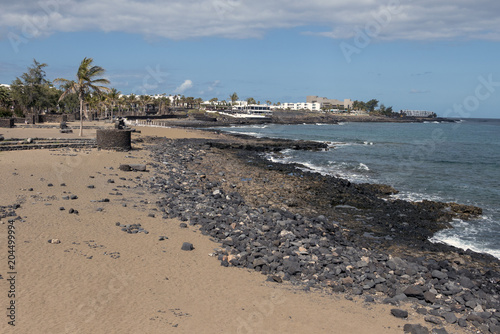 Fotobehang Canarische Eilanden Costa Teguise, Canary Islands, Spain