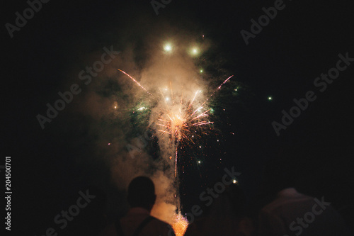 Fotobehang Heelal wedding fireworks