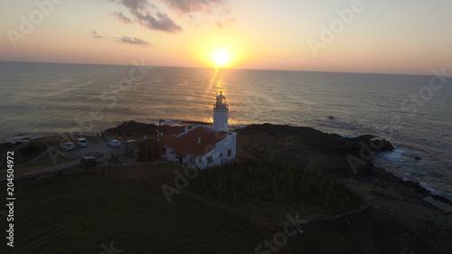 Fotobehang Vuurtoren Sinop inceburun deniz feneri Lighthouse