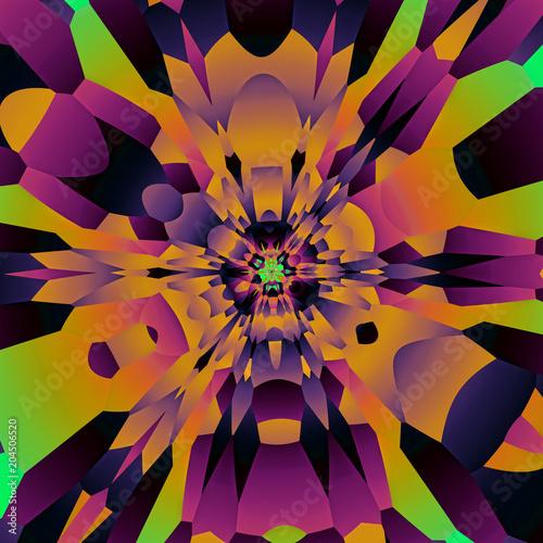 abstrakt geometrisch symmetrisch bunt muster