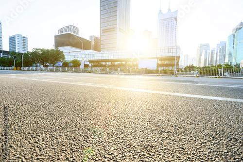 Fotobehang Landschappen asphalt road in morden city