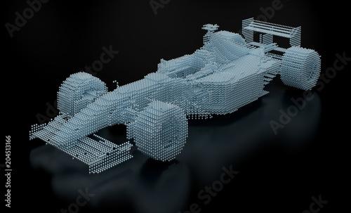 Fotobehang F1 Dotted Formula One Mesh