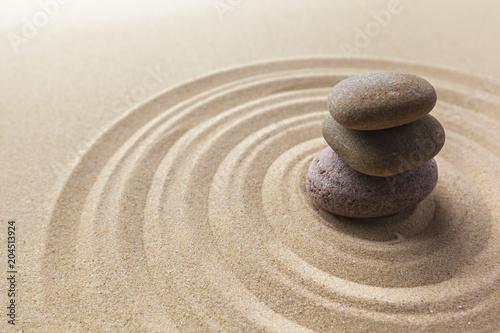 Canvas Zen Stenen zen garden meditation stone background