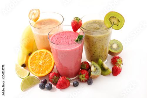 fruit smoothie glasses