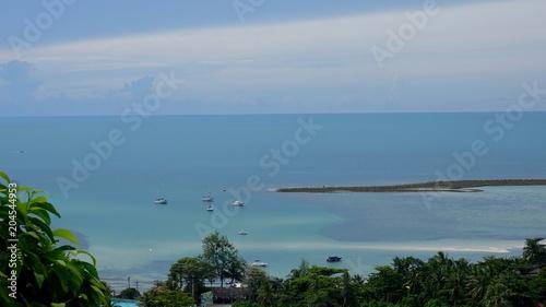 Fotobehang Blauwe jeans Blick über die Süd-Ost Küste von Ko Samui