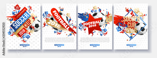 Fototapeta football background place for text 2018