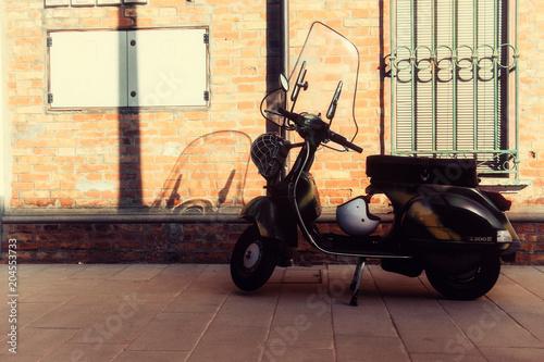 Fotobehang Scooter italian style
