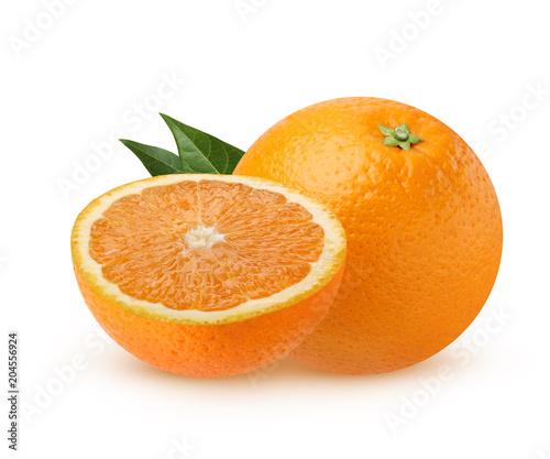 pomarańczowy na białym tle.