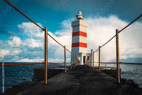 Fotobehang Vuurtoren Lighthouse on Iceland