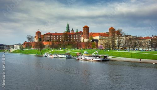 Aluminium Krakau Wawel castle famous landmark in Krakow Poland.