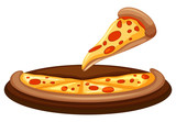 A Vector of Pizza on White Background - 204583589