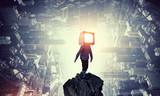 TV addicted children. Mixed media