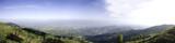 green mountain blue sky panorama