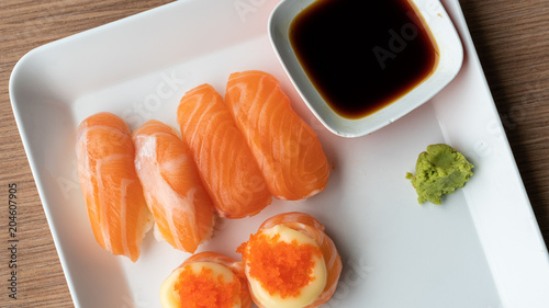 Salmon Sushi And Roll
