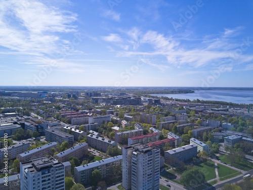 Aerial view of City Tallinn Estonia © mkozlov