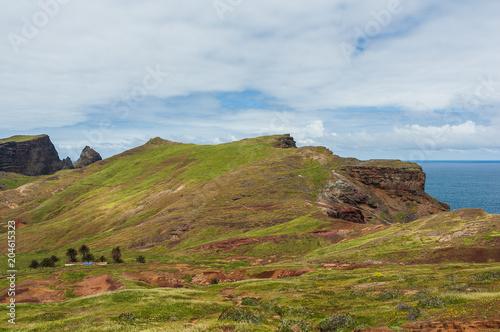 Fotobehang Blauwe hemel Madeira