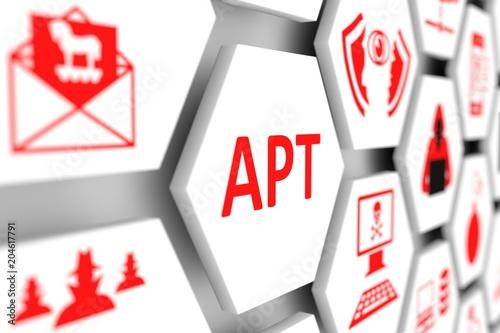APT concept cell blurred background 3d illustration - 204617791
