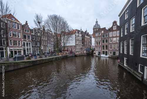 Plexiglas Brugge Canals in Amsterdam