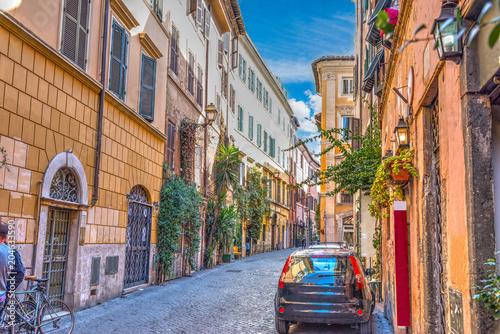 Malownicza ulica w Trastevere