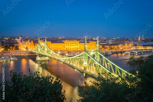 Foto Murales Budapest - Liberty Bridge at Dusk