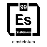 einsteinium symbol isolated on white background , black vector sign and symbols