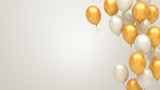 Gold and silver balloons background - 204660394