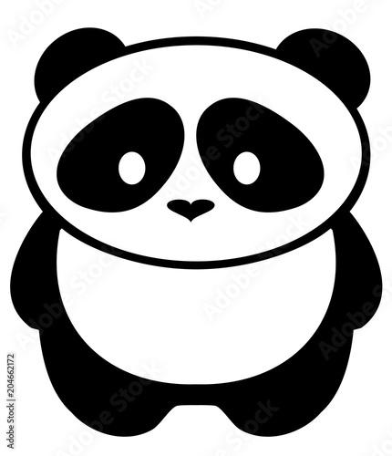 Fototapeta Vector Panda Bear